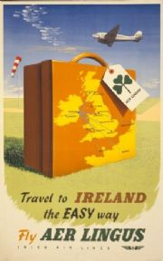 Vintage Aer Lingus poster - Travel to Ireland